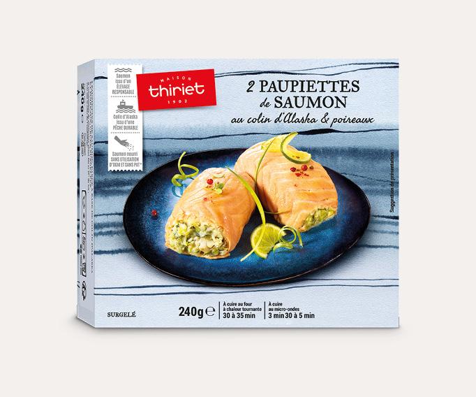 2 Paupiettes saumon au colin d'Alaska et poireaux