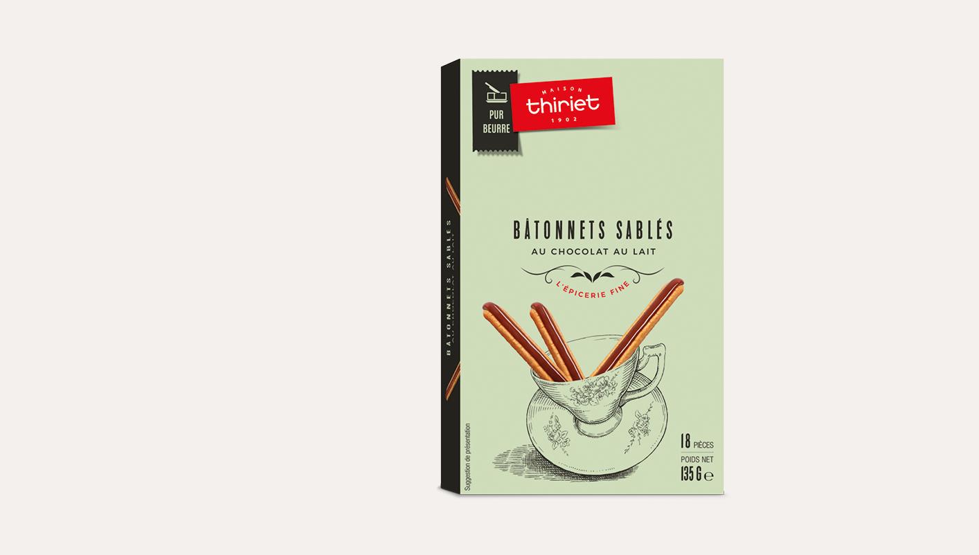 Bâtonnets sablés au chocolat au lait