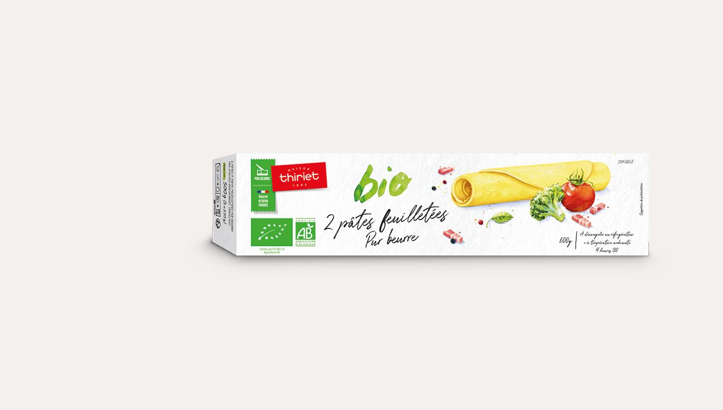 2 Pâtes feuilletées pur beurre biologiques