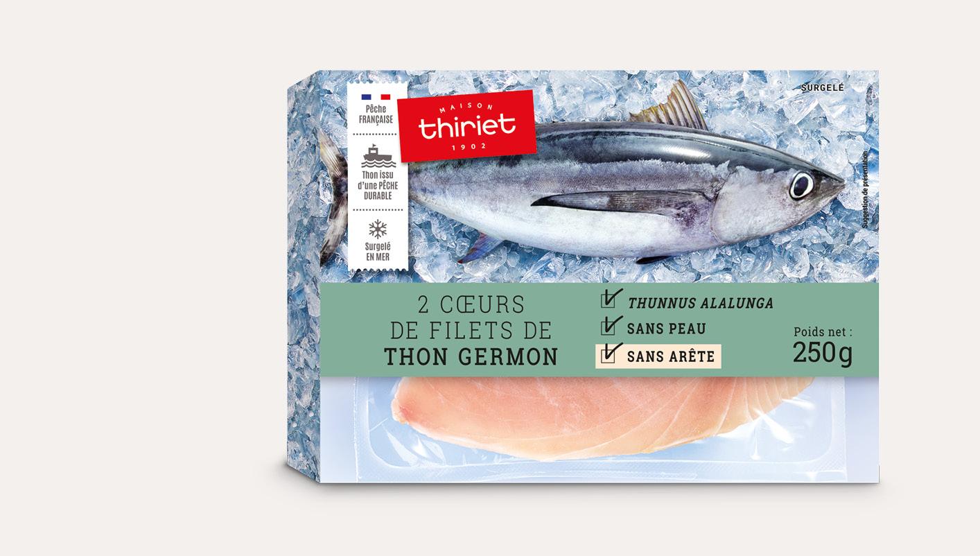 2 Cœurs de filet de thon germon