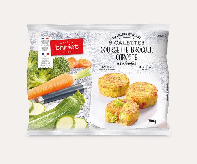 8 Galettes courgette, brocoli, carotte