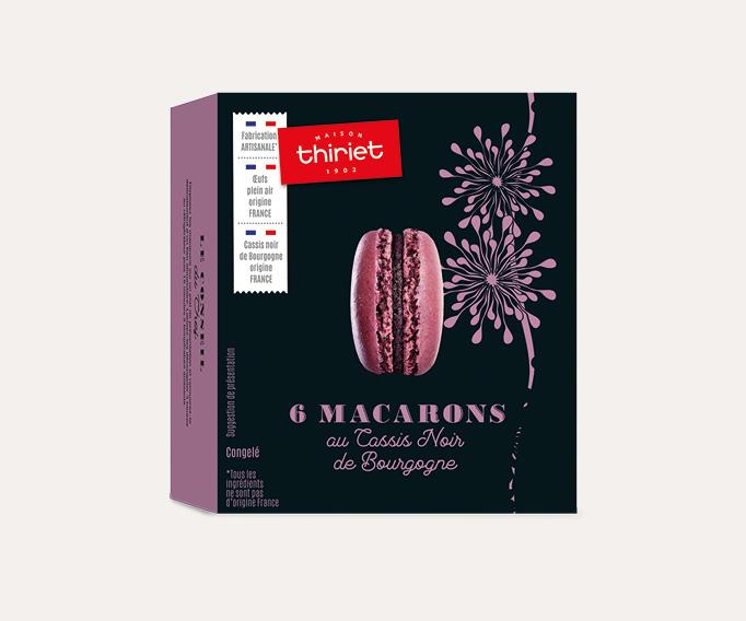 6 Macarons au cassis