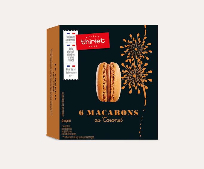 6 Macarons au caramel