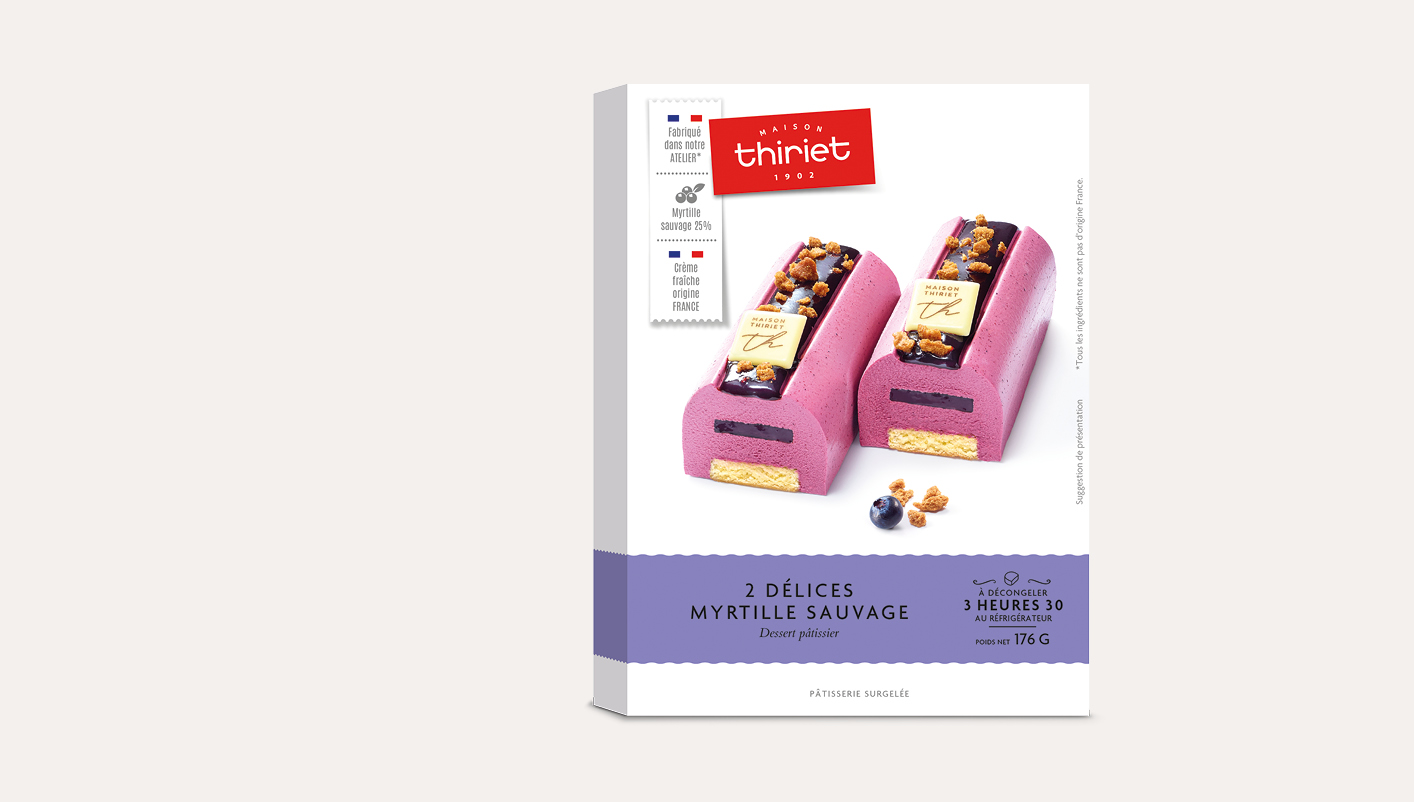 2 Délices pâtissiers myrtille sauvage