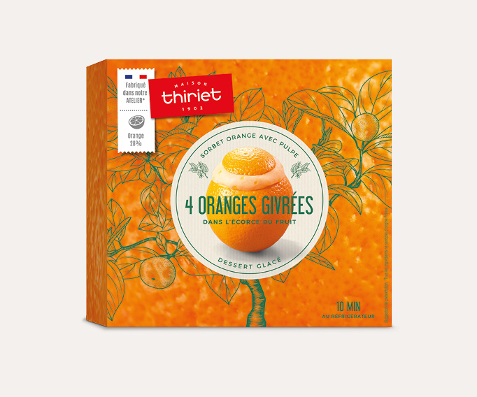 4 Oranges givrées