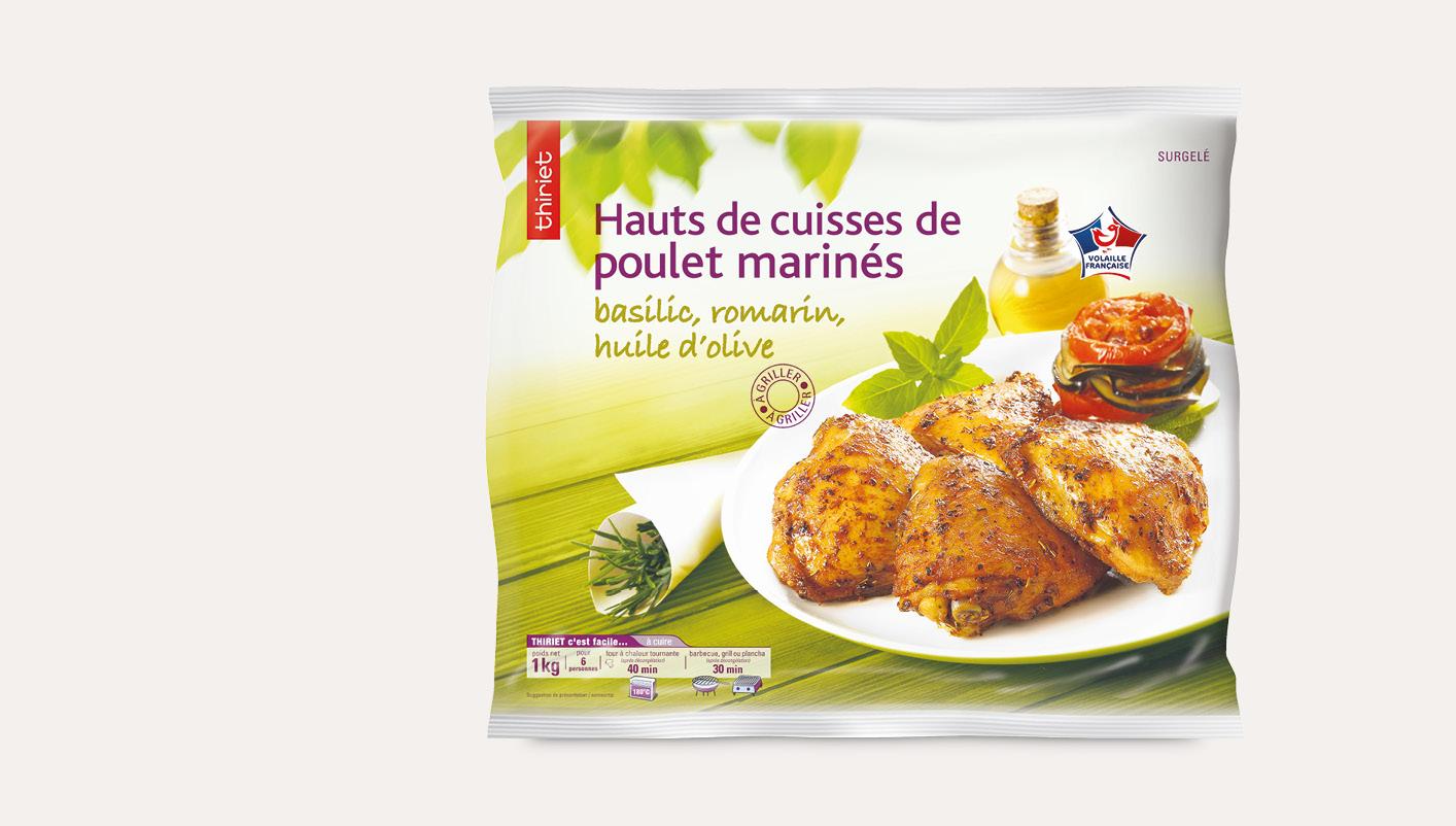Hauts de cuisses de poulet marinés basilic romarin