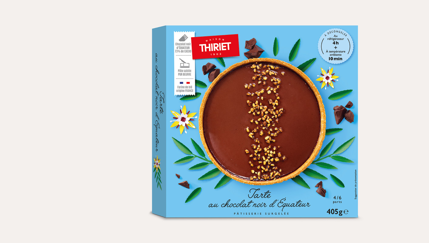 Tarte au chocolat noir d'Equateur
