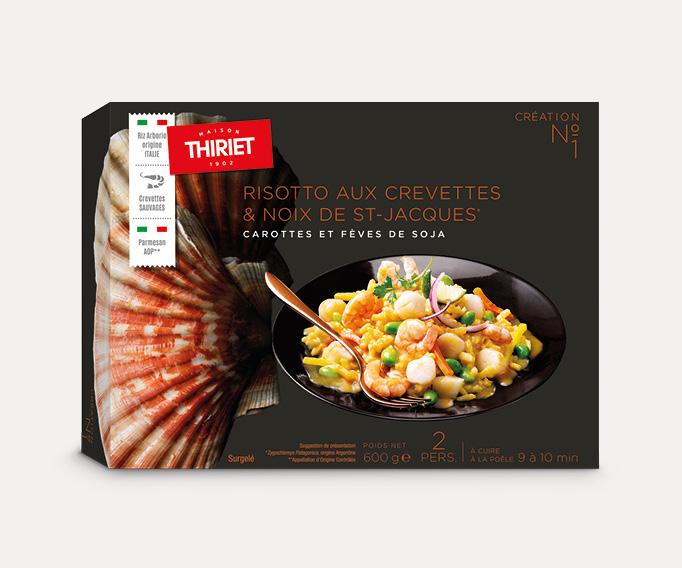 Risotto aux crevettes et noix de Saint-Jacques*