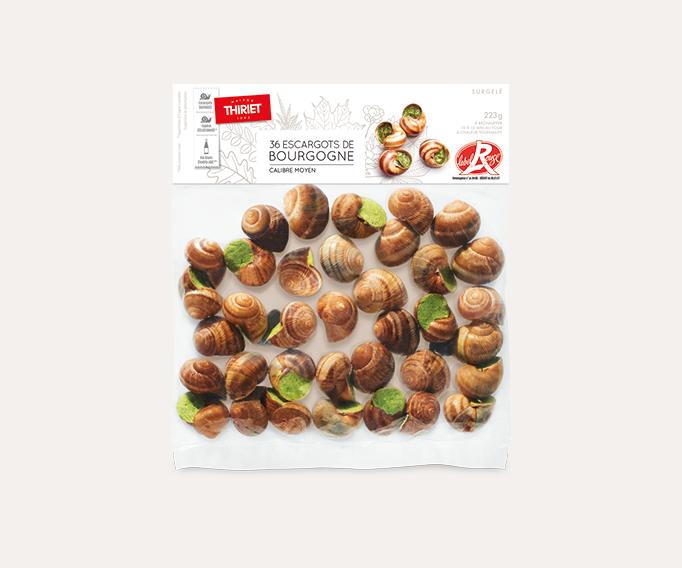 36 Escargots de Bourgogne Label Rouge calibre moyen