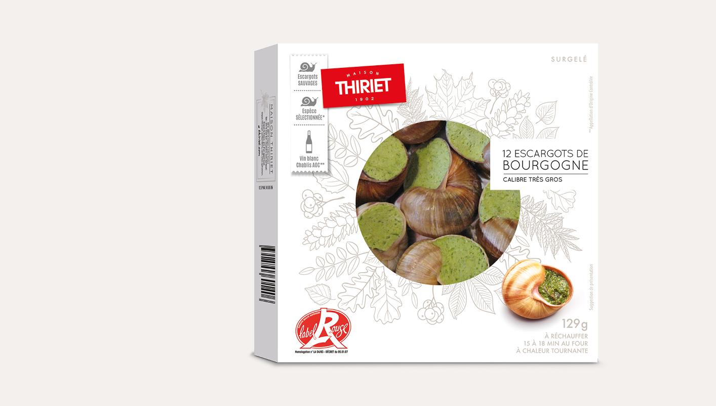 12 Escargots Bourgogne Label Rouge calibre très gros