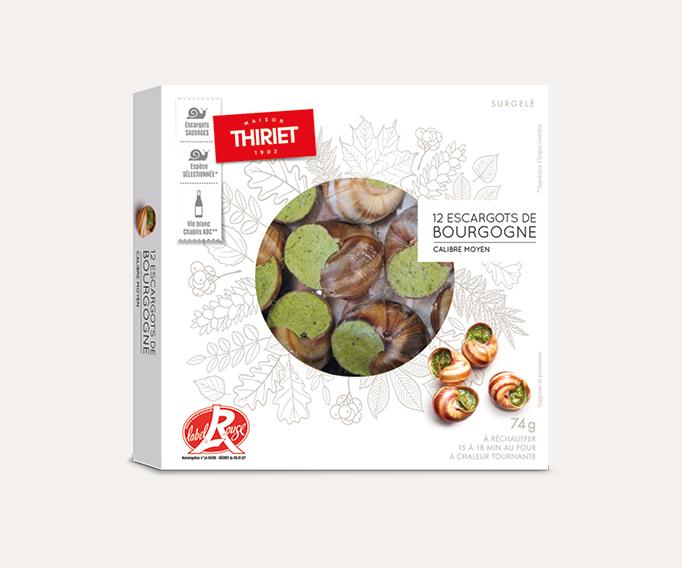 12 Escargots de Bourgogne Label Rouge calibre moyen