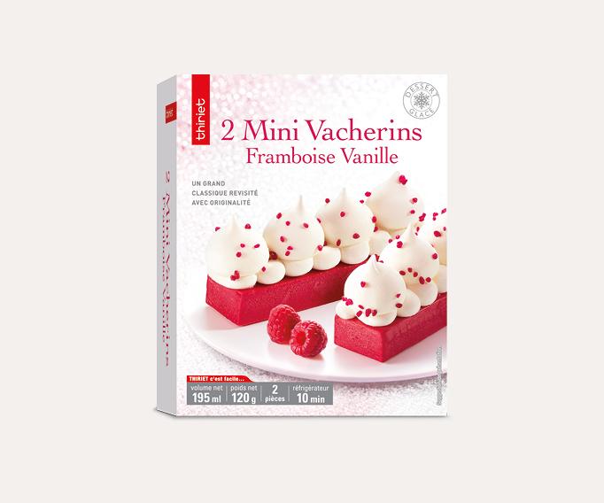 2 Mini vacherins framboise/vanille