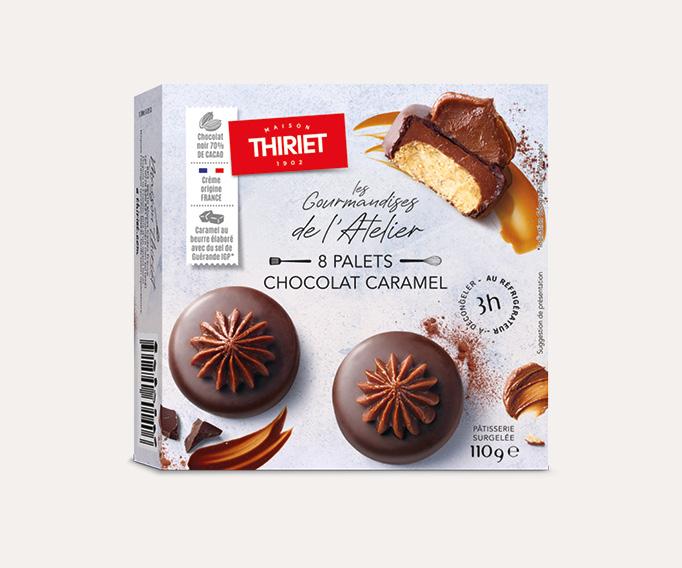 8 palets chocolat caramel