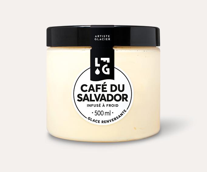 Crème glacée artisanale café du Salvador infusé à froid