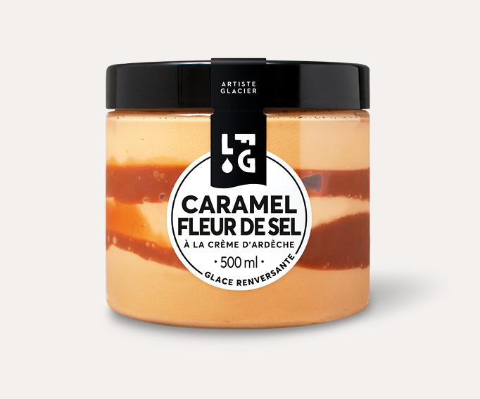 Crème glacée artisanale caramel fleur de sel