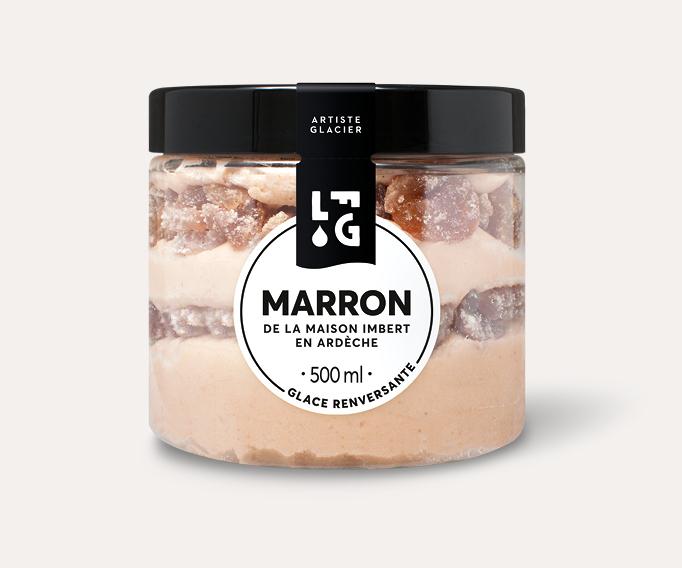 Crème glacée artisanale marron de la maison Imbert