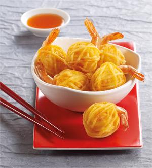 6 crevettes en fils de pommes de terre surgel gamme ap ritifs sur thiriet. Black Bedroom Furniture Sets. Home Design Ideas