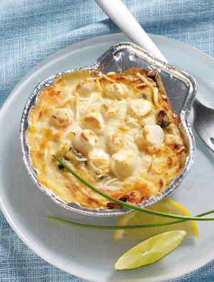 2 coquilles aux fruits de mer et colin d 39 alaska surgel - Cuisiner du colin surgele ...