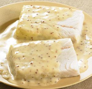 Colin d 39 alaska sauce moutarde l 39 ancienne surgel gamme - Cuisiner du colin surgele ...