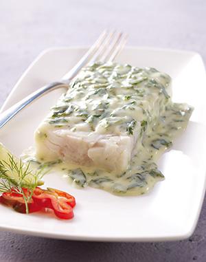 Colin d 39 alaska sauce florentine surgel gamme offres du - Cuisiner du colin surgele ...