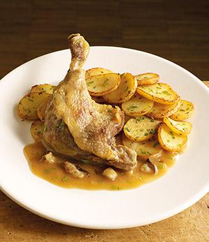 Cuisse de canard confite sauce aux c pes surgel gamme plats cuisin s sur thiriet - Cuisse de canard en sauce ...