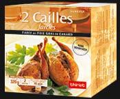 2 cailles farcies farce au foie gras canard surgel gamme offres du mois sur thiriet. Black Bedroom Furniture Sets. Home Design Ideas