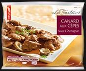 Canard aux cèpes et sauce à l'Armagnac