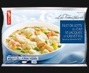 Filet de lotte du Cap, St-Jacques et crevettes