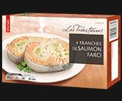 4 Tranches de saumon farci