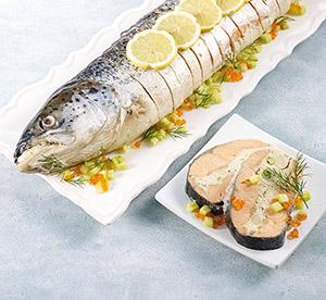 Saumon entier farci cuit et pr tranch surgel gamme for Origine du mot farce