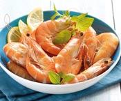 Crevettes entières cuites - 20 à 30 pièces