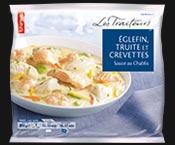 Eglefin, truite et crevettes sauce au Chablis