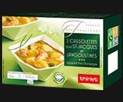 2 Cassolettes aux noix de St-Jacques*/langoustines