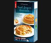 2 Tourtes St-Jacques*/écrevisses