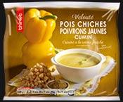 Velouté pois chiches/poivrons jaunes/cumin
