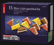 15 Mini club sandwichs