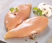 2 Filets de poulet fermier jaune des Landes LR