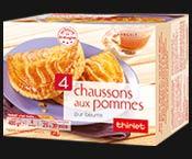 4 chaussons aux pommes pur  beurre de Bretagne