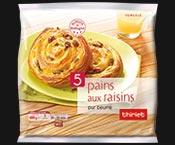 5 pains aux raisins pur beurre de Bretagne