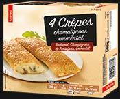 4 Crêpes champignons/emmental