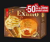 6 Cornets Exalto™ : -50% sur la 2ème boite !