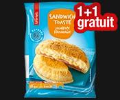 Sandwich toasté jambon/fromage : 1 acheté = 1 gratuit !