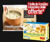 1 Noix de St-Jacques* achetée = Croûtes à bouchées gratuites