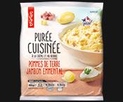 Purée de pommes de terre, jambon et emmental