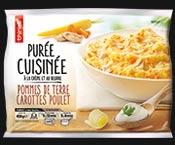 Purée de pommes de terre/carottes/poulet