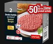 2 Steaks burger 300 g : La 2ème boite à -50% !