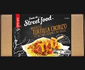 Brochette tortilla/chorizo et riz aux légumes