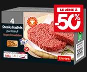 La 2ème boite de 4 Steaks hachés Salers à - 50 % !