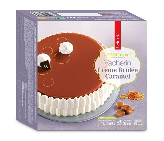 Vacherin crème brûlée/caramel