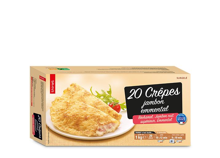 20 Crêpes jambon/emmental